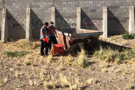 Concretan trabajos de desmalezamiento en instituciones educativas de Caleta Olivia