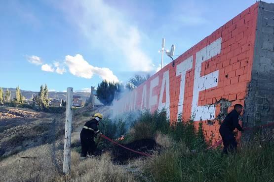 Principio de incendio en El Calafate