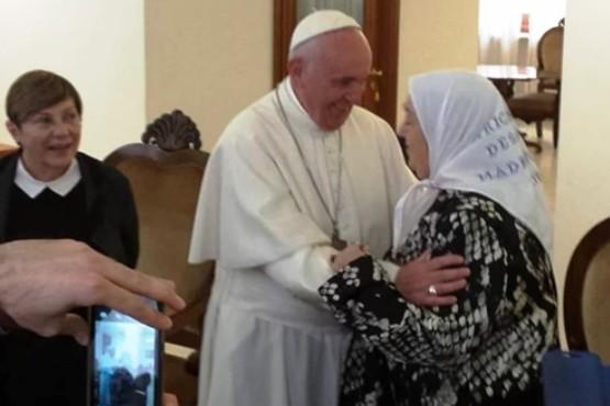 El Papa recibió a Bonafini en mayo de 2016.