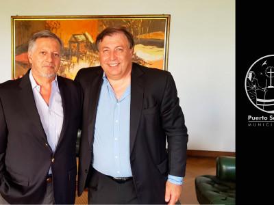 El ministro Aranguren y el intendente Tomasso.