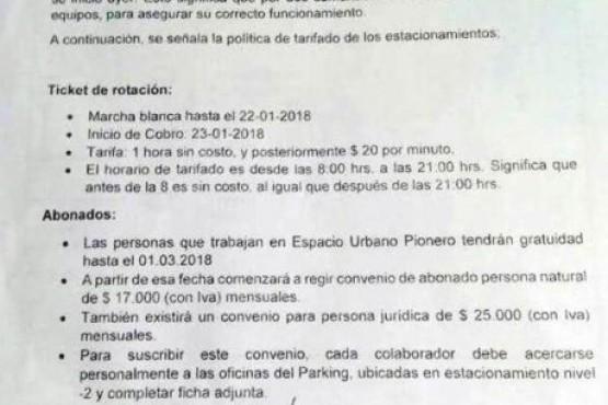Mañana comienza el cobro de estacionamiento en el Mall de Punta Arenas