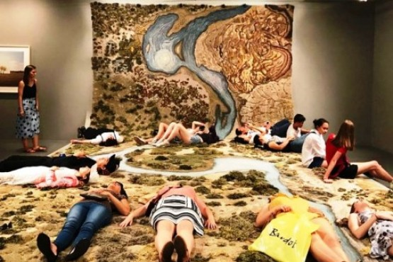 Una inmensa alfombra alerta sobre el Río Santa Cruz