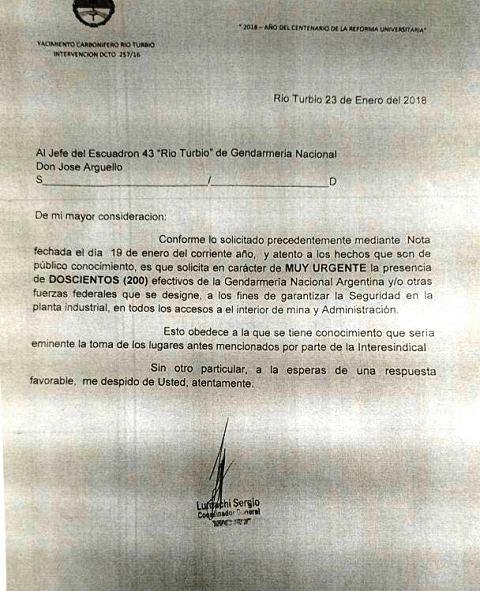 Solicitan la presencia de 200 gendarmes para garantizar la seguridad en la mina