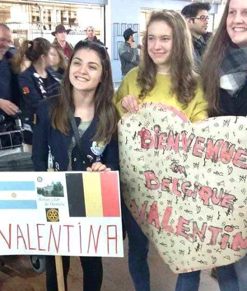 Valentina Saldivia, joven riogalleguense que se encuentra en Bélgica.