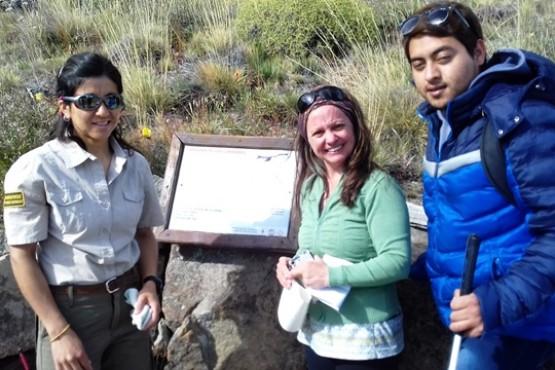 Turismo Accesible en El Chaltén: Carteles con sistema braile en el Mirador de los Cóndores
