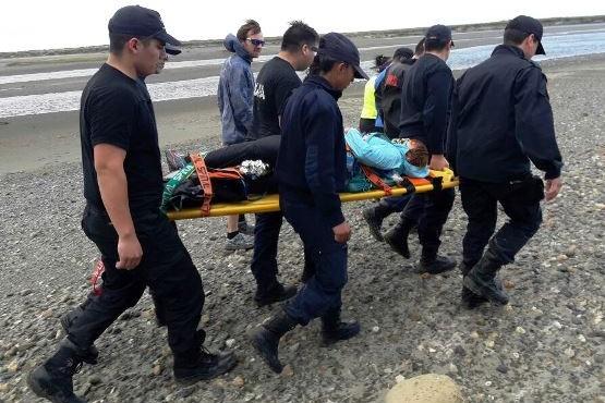 Mujer lesionada en Pescazaike debió ser asistida por personal del GERS