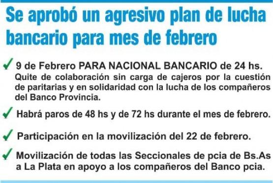 Bancarios convocaron a un paro nacional el 9