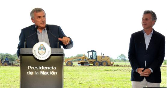 La semana pasada se firmó el convenio entre Morales y Macri. (Prensa Jujuy).