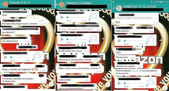 Las advertencias en los grupos de WhatsApp.