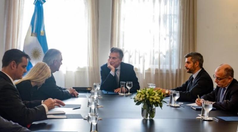 Mauricio Macri reunido con Rex Tillerson y Tom Cooney
