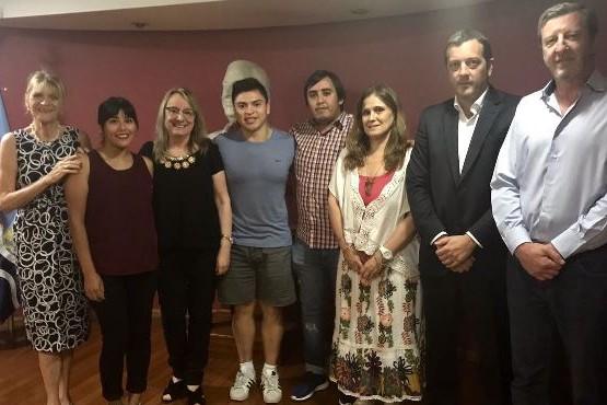 Alicia se reunió con representantes del Centro de Estudiantes de Santa Cruz