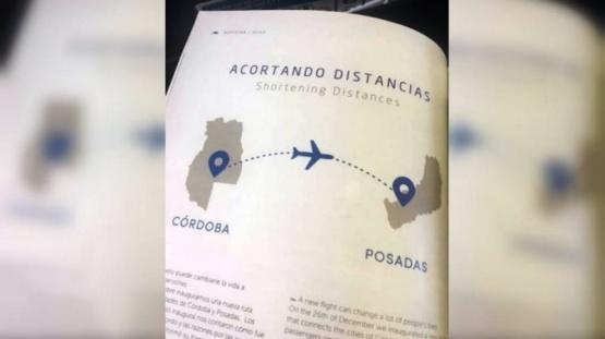 Error grosero de Aerolíneas: confundió Mendoza con Córdoba