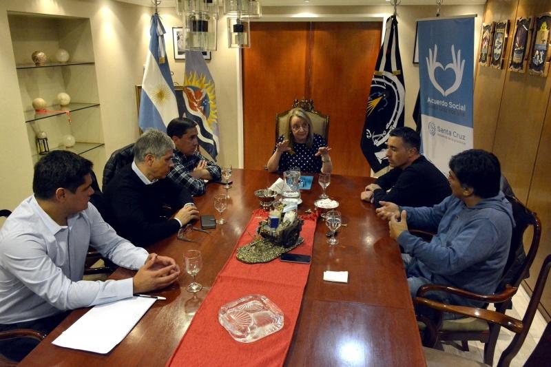 Reunión de la Gobernadora con los referentes de Gob. Gregores.