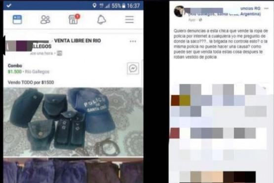 Denuncian en redes sociales venta de uniformes policiales por internet