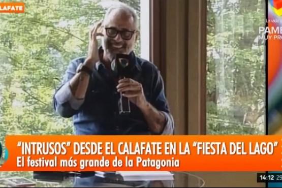 """Jorge Rial de visita en El Calafate: """"Es impresionante el paisaje"""""""