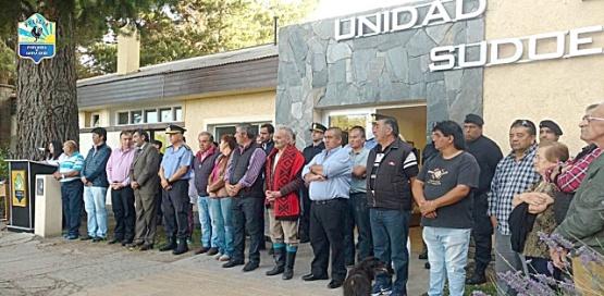 El acto se realizó en la parte externa de la Unidad Regional Sudoeste.