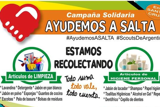 Juntan donaciones para damnificados de Salta