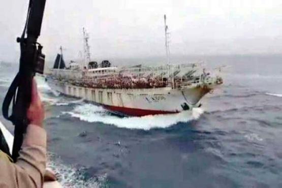 Prefectura tiroteó a un buque chino que se encontraba dentro de la Zona Económica Exclusiva