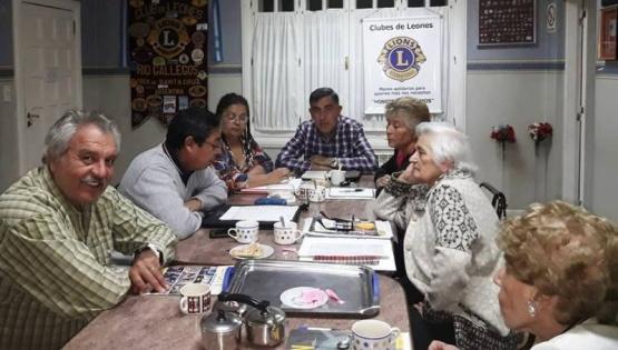 El Club de Leones concretó la primera reunión del año en su propia sede