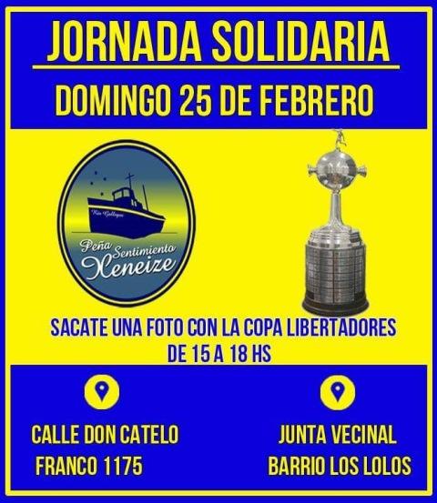 Nueva jornada solidaria de la peña de Boca Juniors