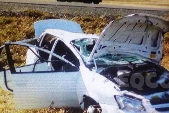 Accidente sobre la ruta Nacional 40