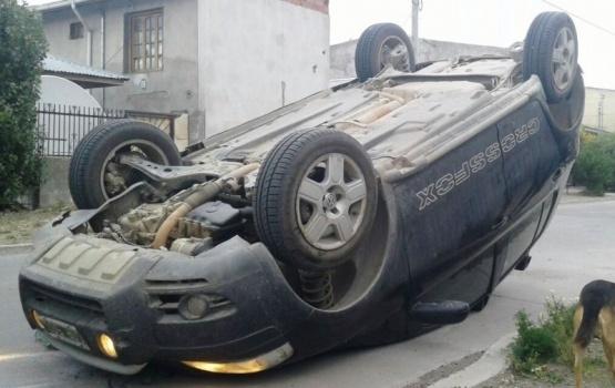 Choque seguido de vuelco en la mañana de Río Gallegos