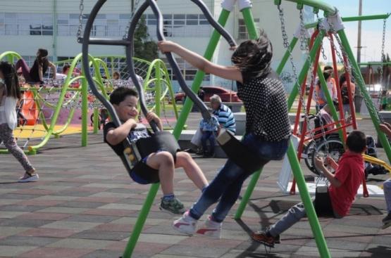 El parque, abierto pero con horarios.