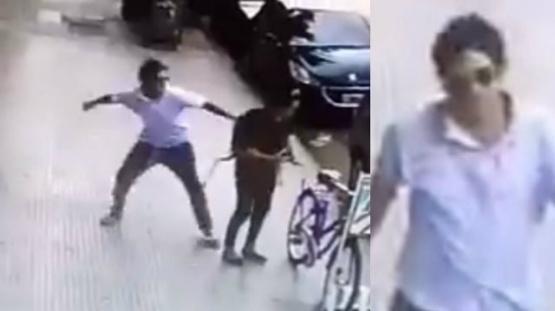 El hombre que le pegó a la mujer en Palermo resistió a la detención