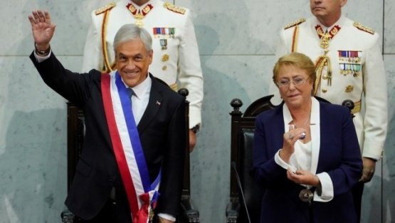 El conservador Sebastián Piñera juró como presidente