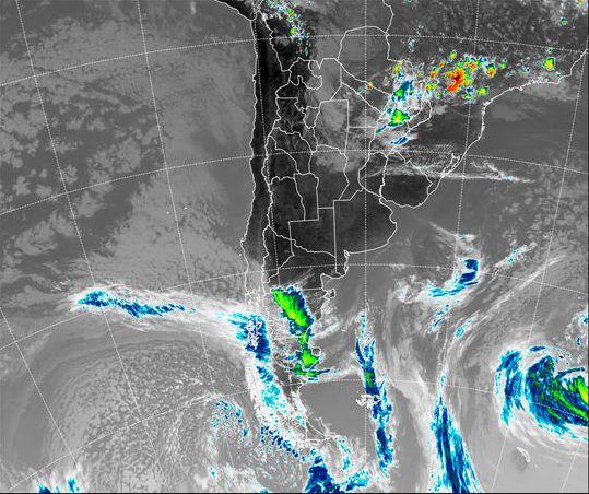 Vientos fuertes para Santa Cruz y Chubut