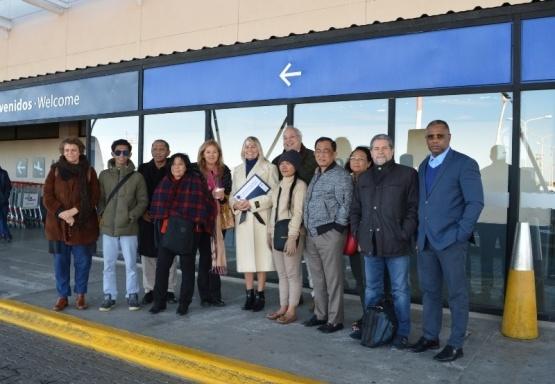 Arribaron delegaciones de la Red Mundial de Ciudades Magallánicas