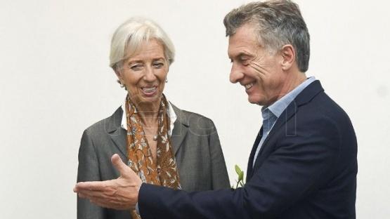 Macri con la titular del FMI.