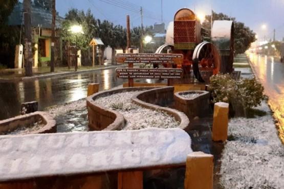 Llegó la nieve a Santa Cruz
