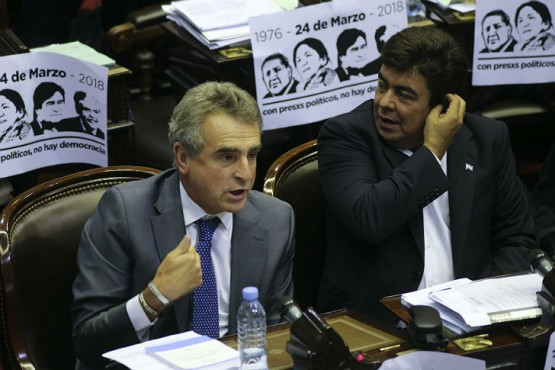 Rossi y Espinoza en Diputados. Foto:Noticias Argentinas