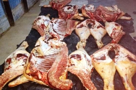 Carne de tres terneros incautada el lunes cerca de Tres Lagos