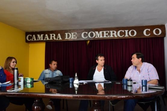 Costa mantuvo reuniones con comerciantes, concejales y funcionarios