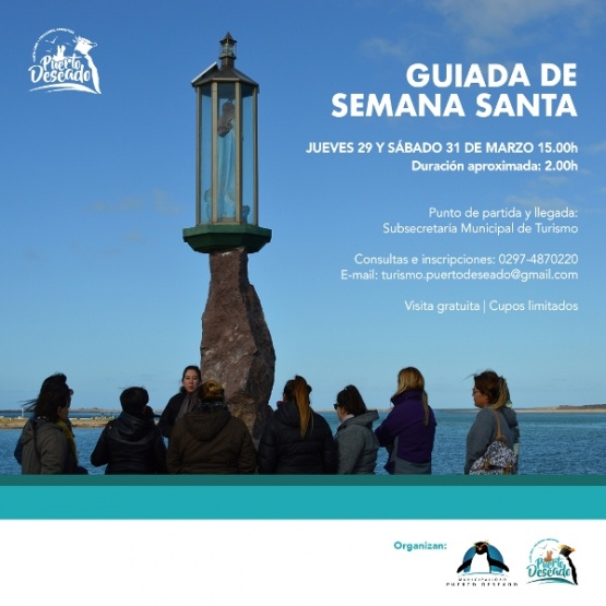 Puerto Deseado ofrecerá visitas guiadas por monumentos religiosos