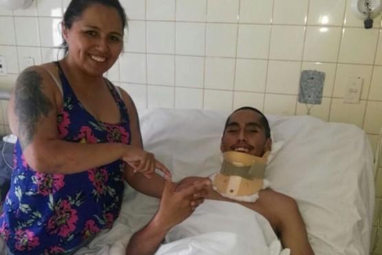 Movida solidaria para ayudar a un joven de 22 años que sufrió grave accidente