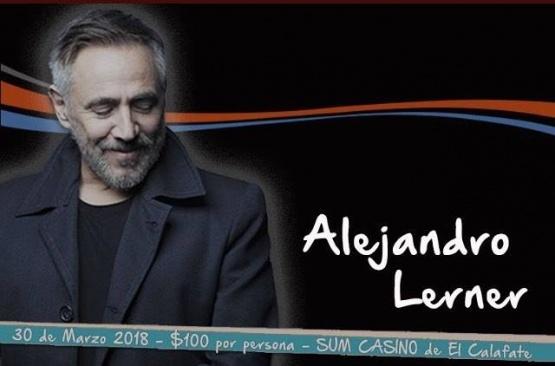 Lerner se presentará en Calafate.