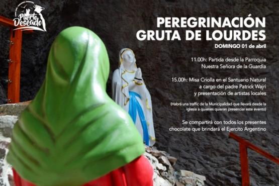 Todo listo para la peregrinación a la Gruta de Lourdes
