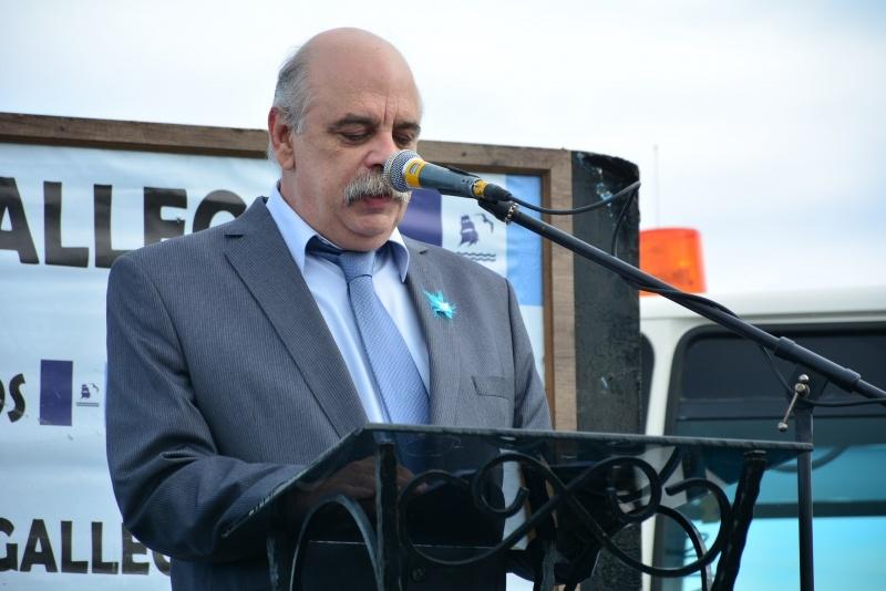 El Intendente dio su discurso en el acto. (C.R)
