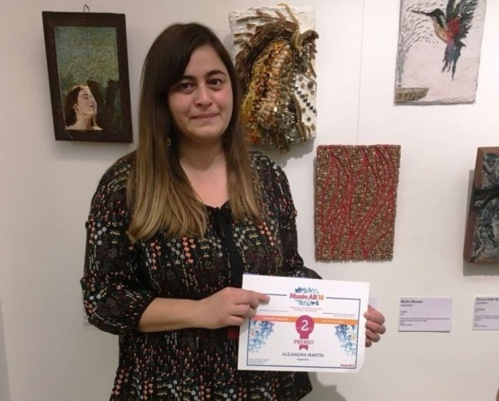 Artista de El Calafate obtuvo un destacado premio internacional