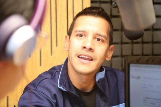 Gastón Rivarola, en Tiempo FM. (C.G)