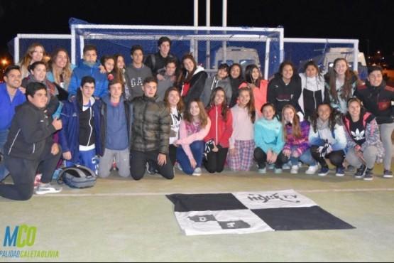 Deportistas del Club San Jorge a El Chaltén
