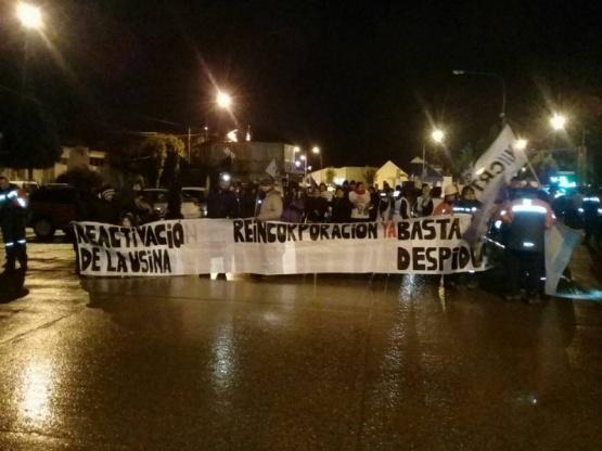 Los mineros volvieron a marchar. (Foto: Miguel Paez)