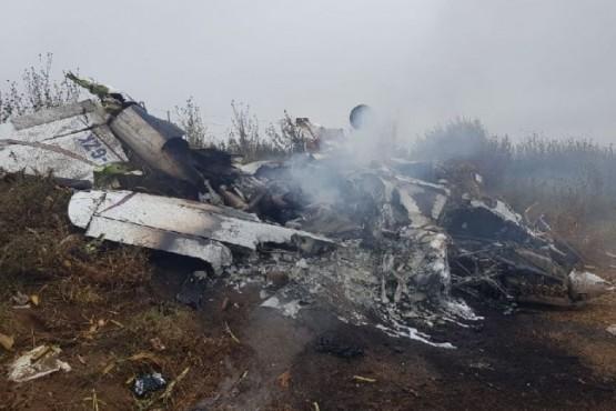 Cinco personas murieron tras la caída de una avioneta en una zona rural