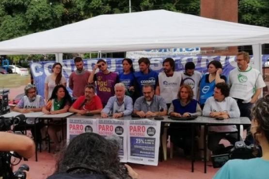 Paro de 48 horas de los docentes de las universidades nacionales