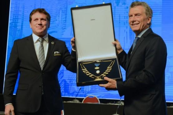 Macri distinguido por la CONMEBOL