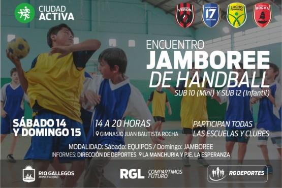 """""""Jamboree"""" de Handball infantil en el Rocha"""