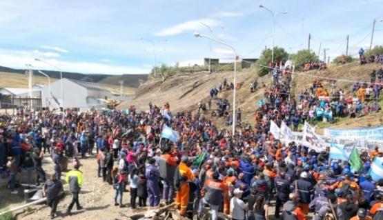 Asamblea de mineros en la cuenca. (Foto archivo)